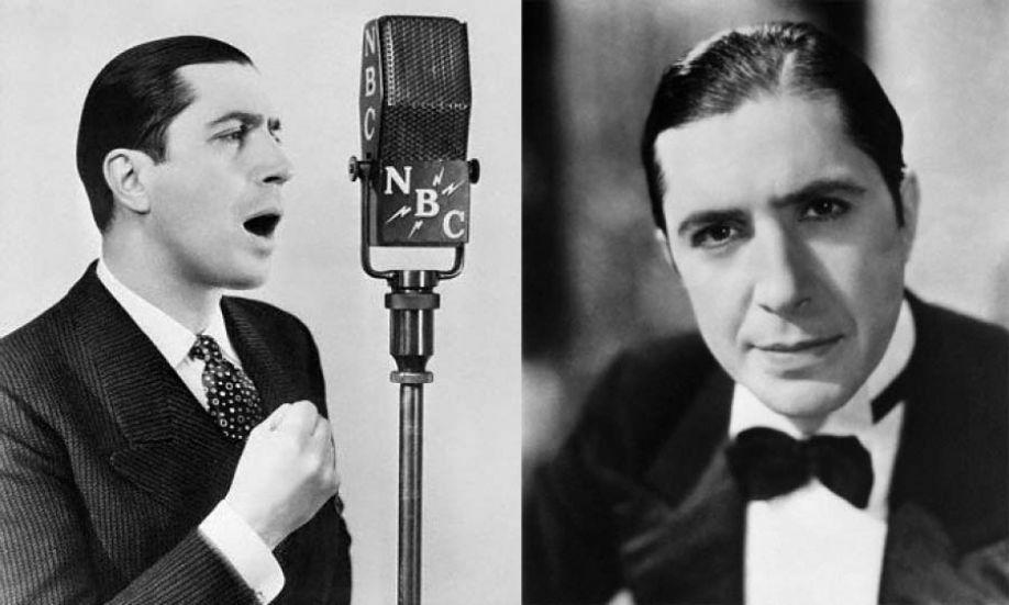 Carlos Gardel cantando para NBC en 1934.